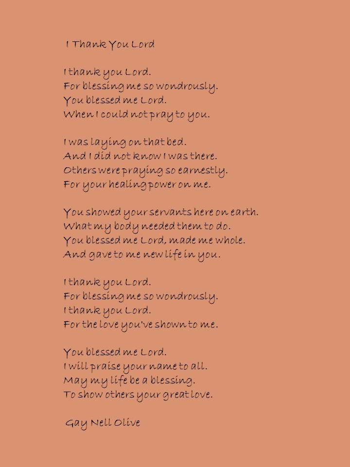i thnak you Lord